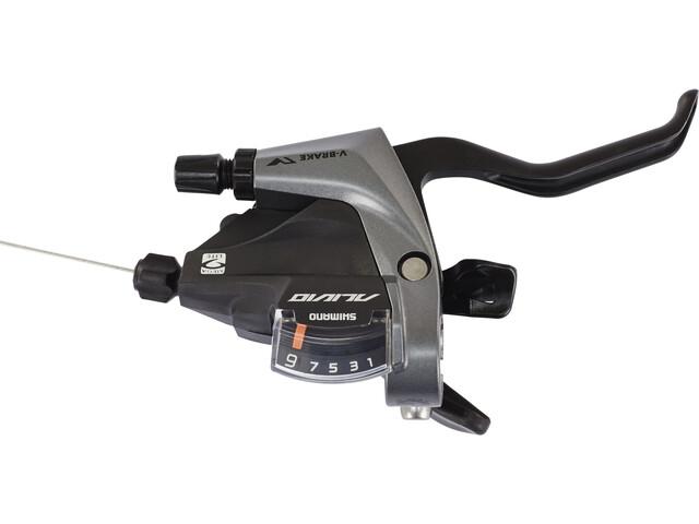 Shimano Alivio ST-M4000 Gearhåndtag 9-speed 2 finger baghjul, black/grey
